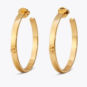 Tory Burch Kira Hoop Earrings- Gold
